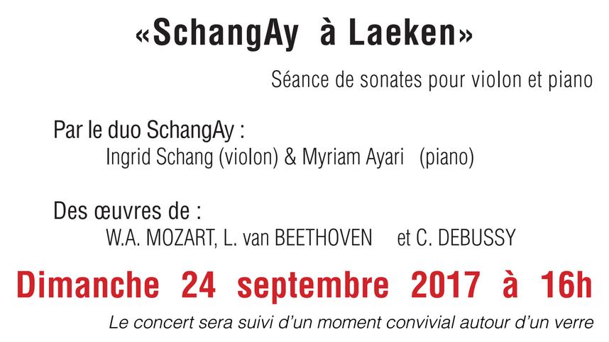 Annonce du concert SchangAy à Laeken