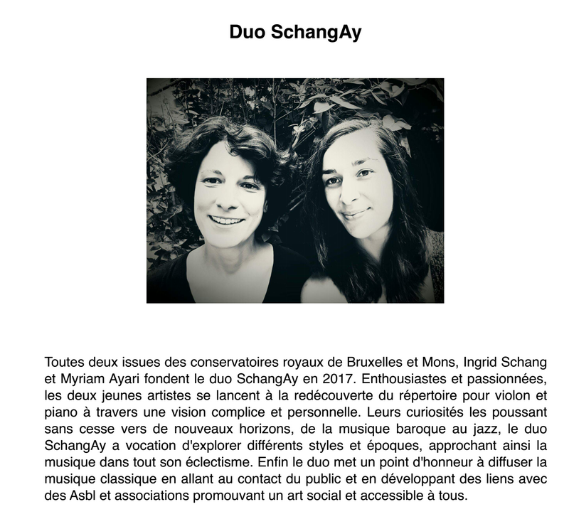 Photo du duo SchangAy